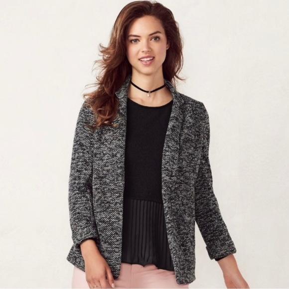 7f1663172d LC Lauren Conrad Jackets   Blazers - LC LAUREN CONRAD Knit Blazer Agate  Gray Size 8